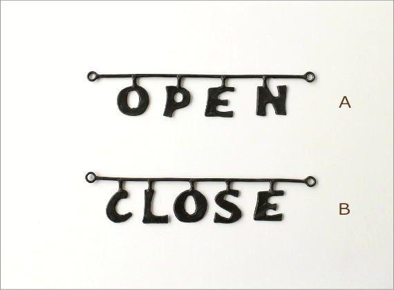 アイアンのウォール飾り文字 2タイプ(3)