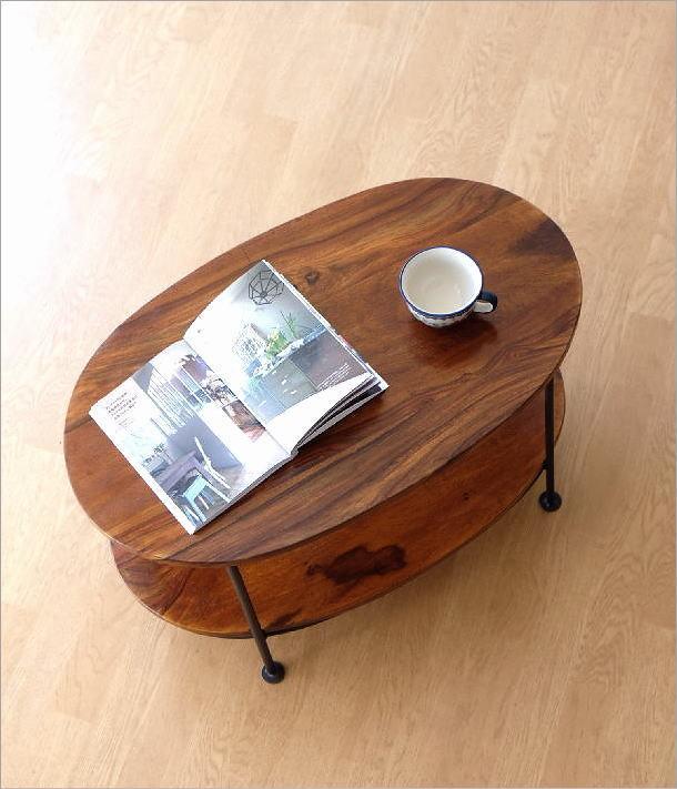 シーシャムウッドオーバルテーブル(1)