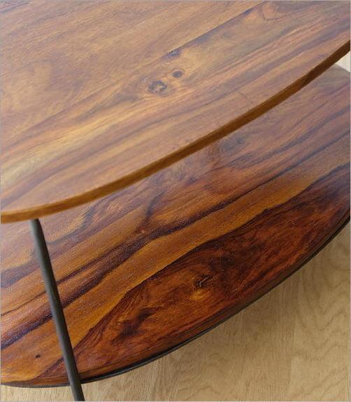 シーシャムウッドオーバルテーブル(3)