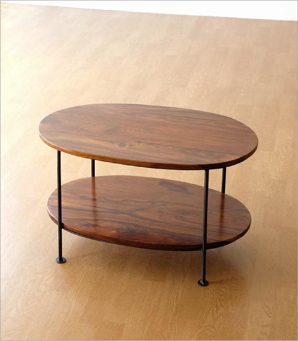 シーシャムウッドオーバルテーブル(4)