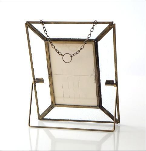 真鍮のガラスフォトフレーム(3)