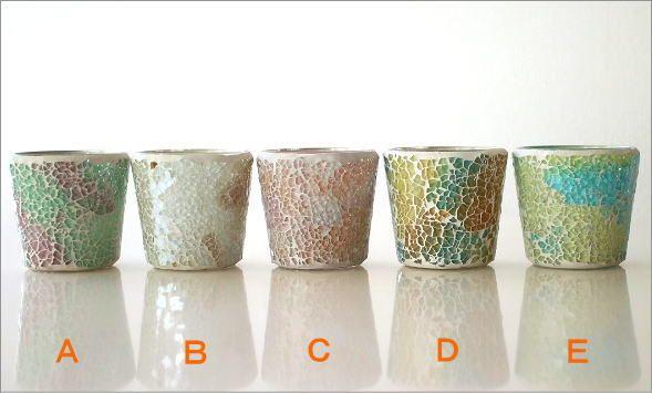 モザイクキャンドル付きカップ 5カラー(2)