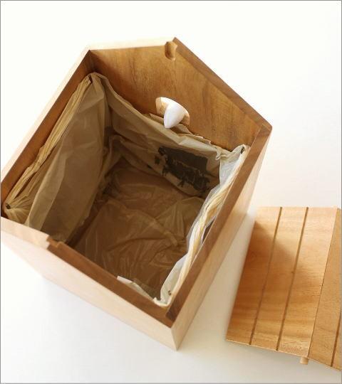 ウッドバードハウスのゴミ箱(5)