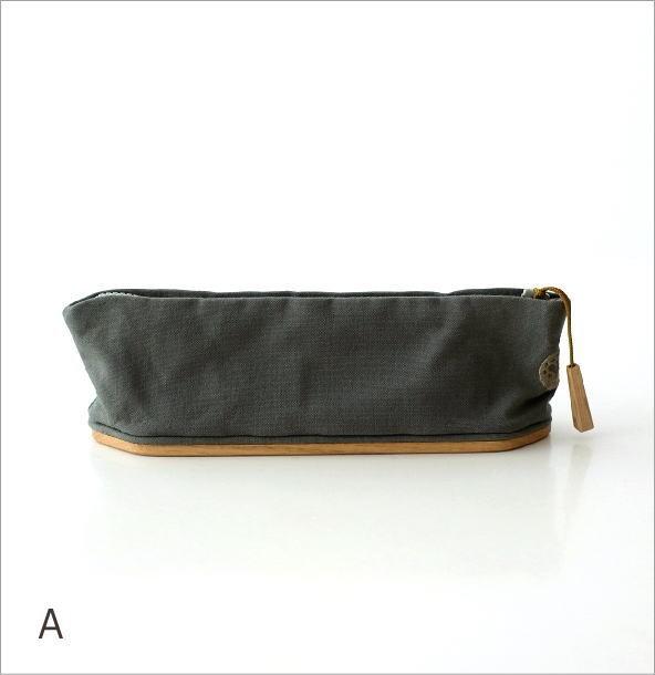 帆布とウッドのペンケース2カラー(4)