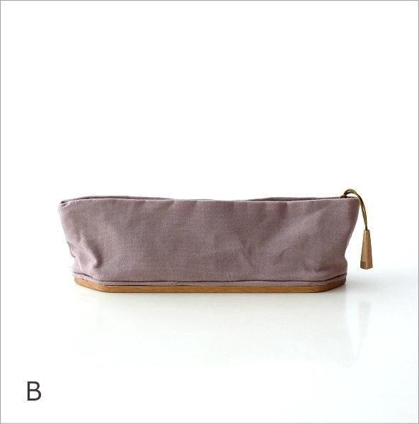 帆布とウッドのペンケース2カラー(5)