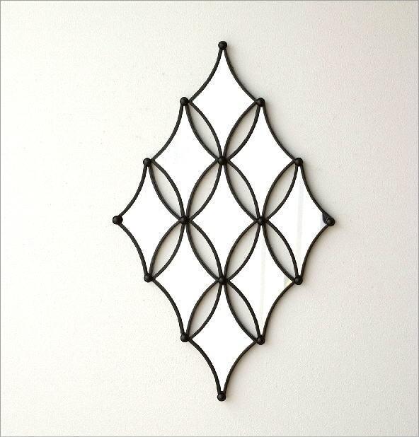ウォールデザインミラーの壁飾り(5)