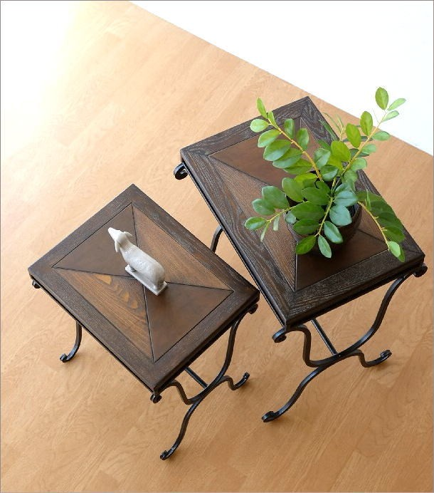ウッドネストテーブル 2サイズセット(1)
