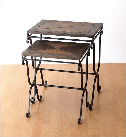 ウッドネストテーブル 2サイズセット(4)