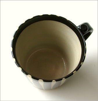 マグカップ 陶器 黒十草マグ(2)