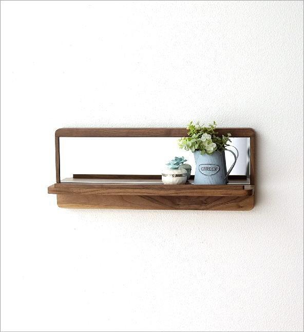 飾り棚カガミL ウォルナット(1)