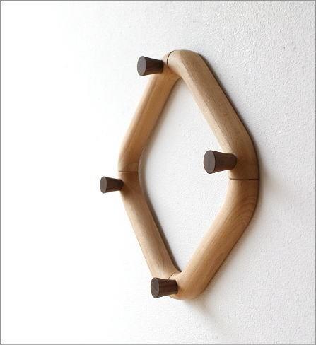 木のスクエアハンガー(2)