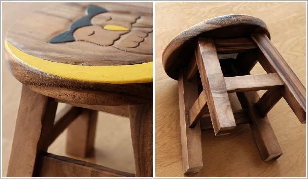ベビースツール 子供椅子みみずくさん(3)