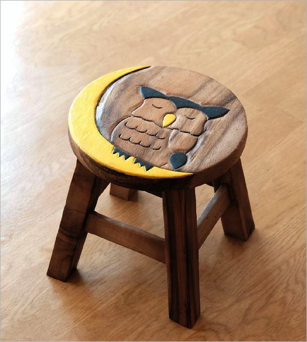 ベビースツール 子供椅子みみずくさん(4)