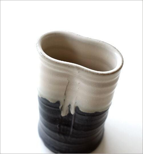 和陶器花入 結晶変形(2)