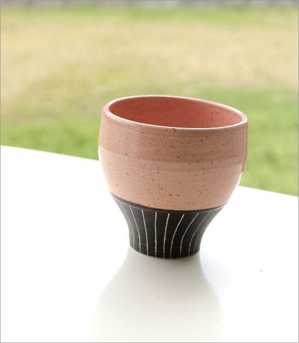 和陶器フリーカップ 桃(1)
