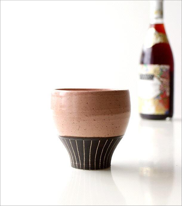 和陶器フリーカップ 桃(2)