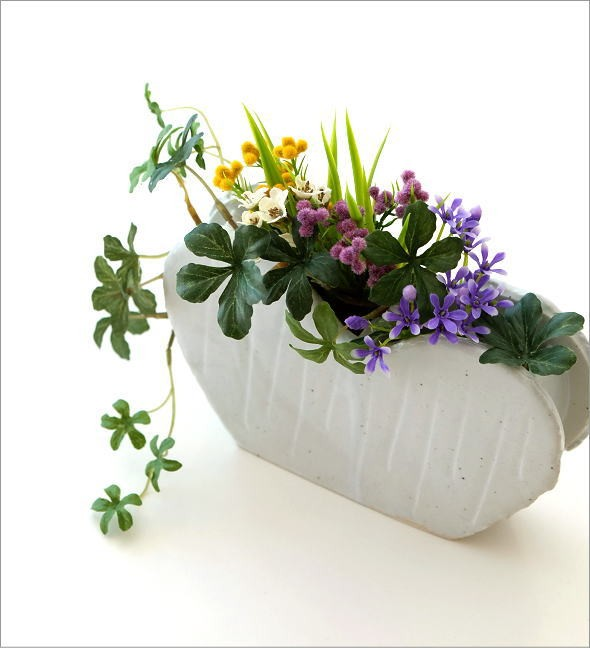 和陶器ベース ホワイトハート(1)
