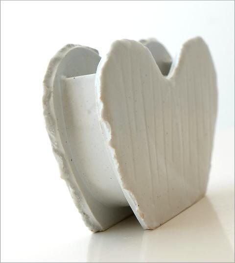 和陶器ベース ホワイトハート(4)
