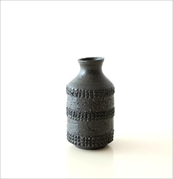 黒土 筒型 花入れ(3)