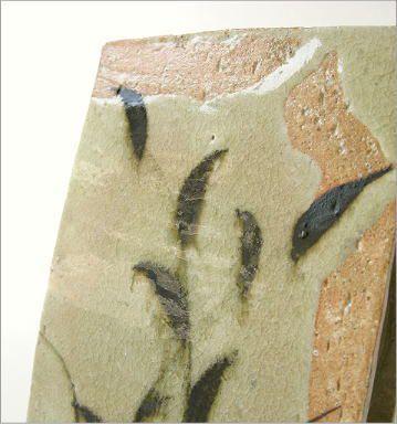 花瓶 花器 陶器 和陶器ベース 鉄絵草文 (2)