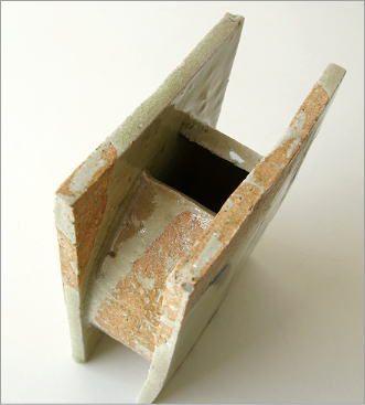 花瓶 花器 陶器 和陶器ベース 鉄絵草文 (3)
