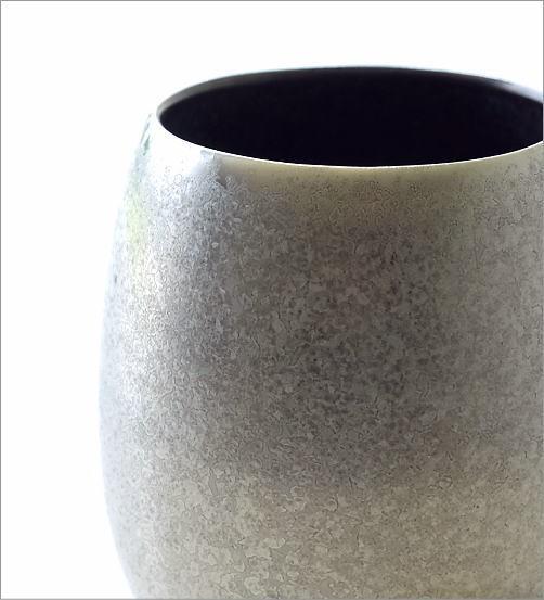 黒柚子銀塗 しずくカップ(2)