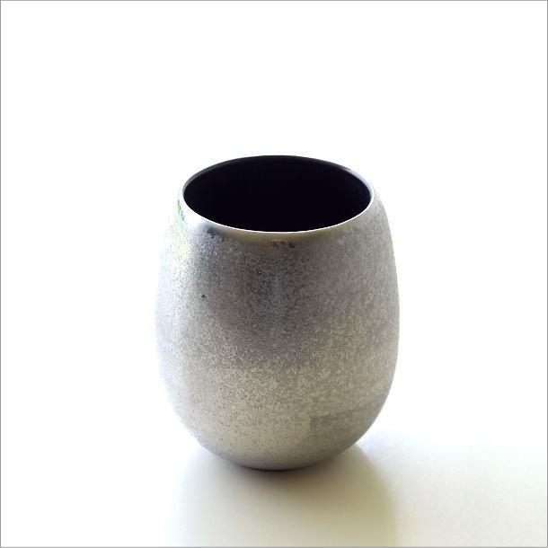 黒柚子銀塗 しずくカップ(4)