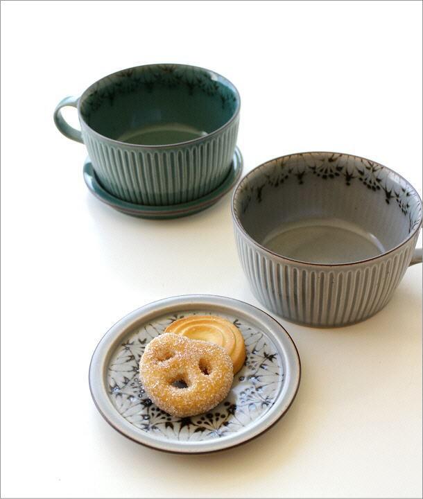 ダマスクフラワー蓋付きスープカップ 2カラー(1)