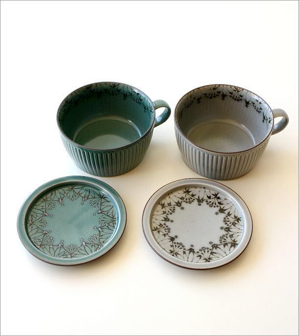 ダマスクフラワー蓋付きスープカップ 2カラー(2)
