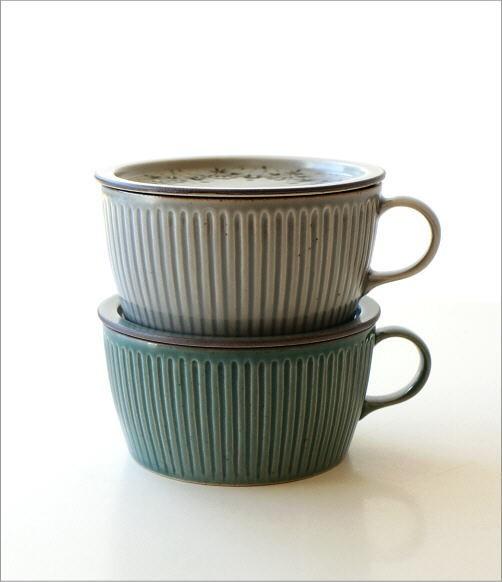 ダマスクフラワー蓋付きスープカップ 2カラー(5)