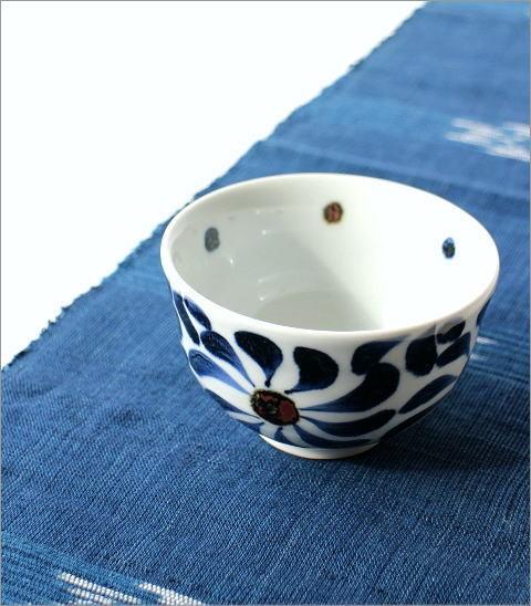 飯碗 染付渦草花(1)