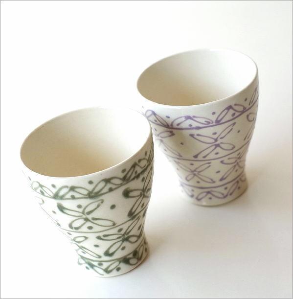 一珍レリーフ湯のみ茶碗 2カラー(1)