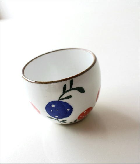 粉引丸煎茶 花の実(1)