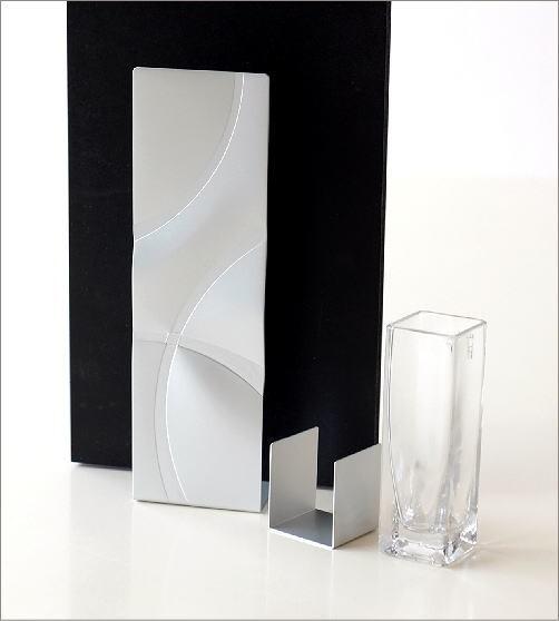 アルミとガラスのウッドフレームベース(2)