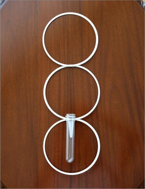 アルミとガラスのベース リング(3)