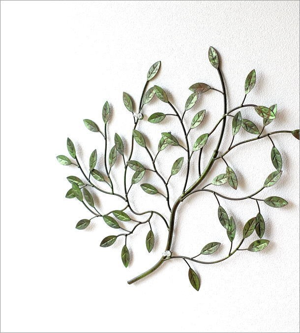 アイアンの壁飾り グリーンブランチ(1)