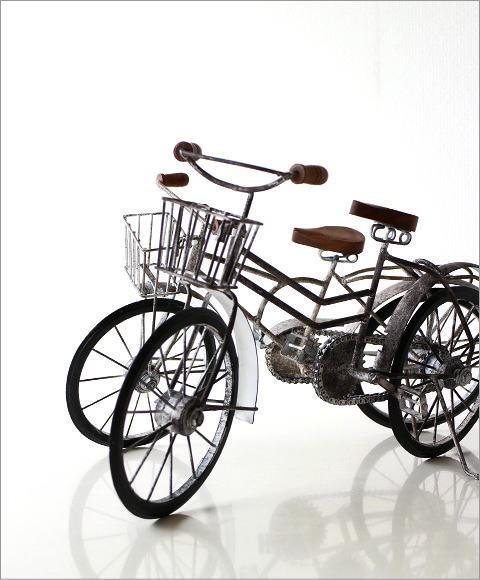 アンティークな自転車の置物 2タイプ(1)