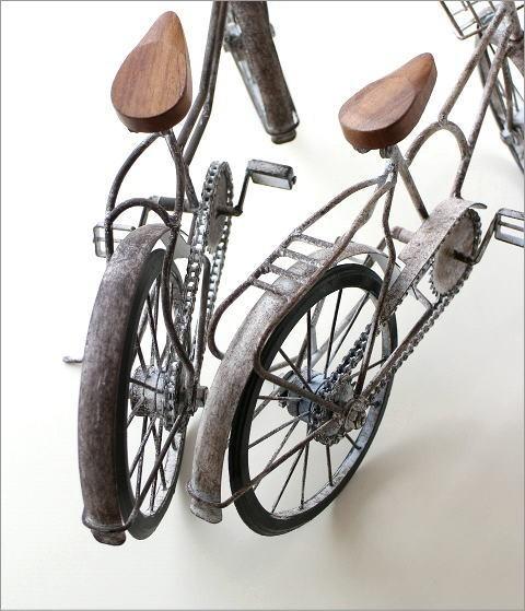 アンティークな自転車の置物 2タイプ(3)