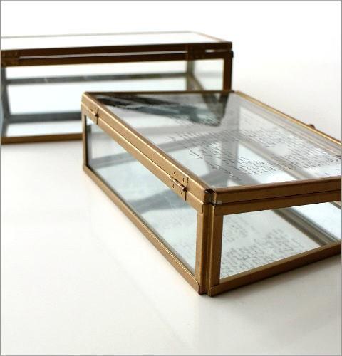 アンティークなガラスケース 2Pセット(3)