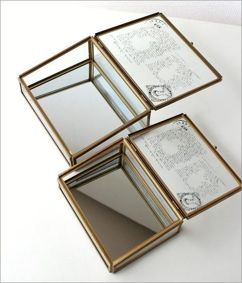 アンティークなガラスケース 2Pセット(4)