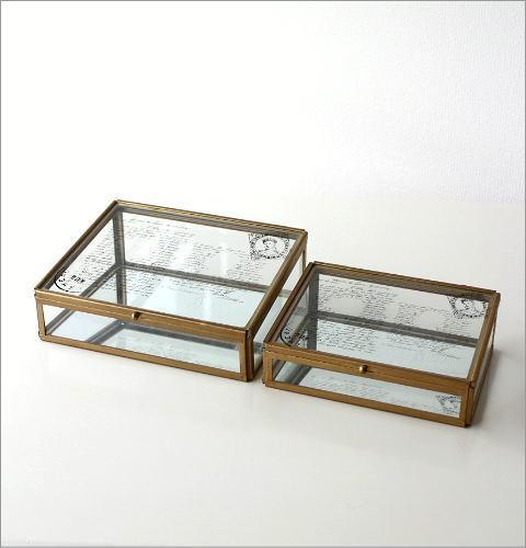 アンティークなガラスケース 2Pセット(5)