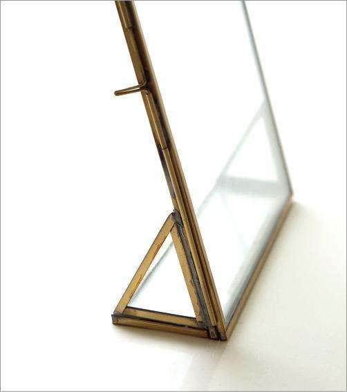 真鍮とガラスのフォトフレームL(2)