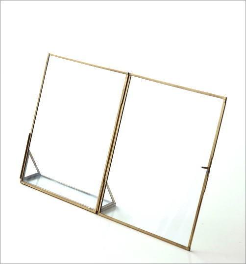 真鍮とガラスのフォトフレームL(4)
