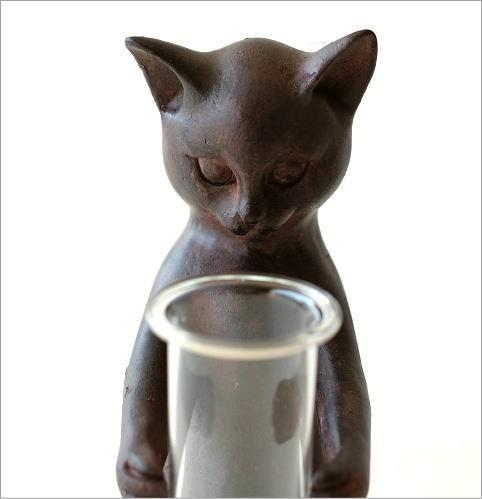 ネコの一輪挿し(3)