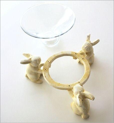 ホワイトうさぎのガラスコンポート(2)