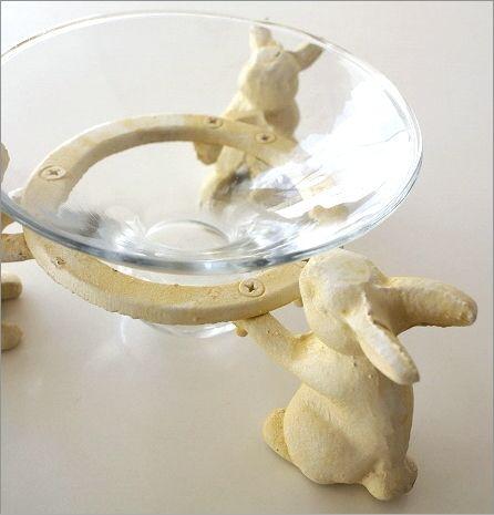 ホワイトうさぎのガラスコンポート(3)