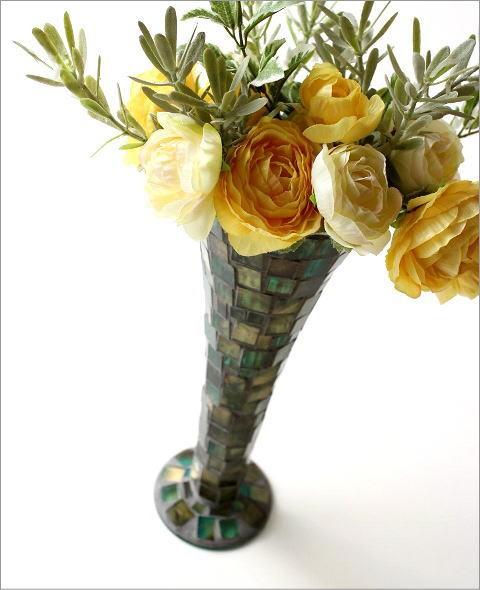フラワーベース モザイクガラスの花瓶B(1)
