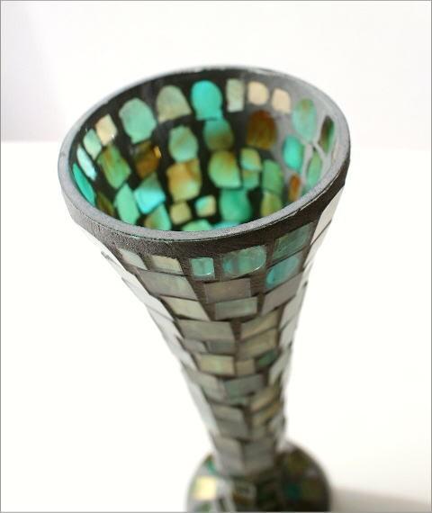 フラワーベース モザイクガラスの花瓶B(2)