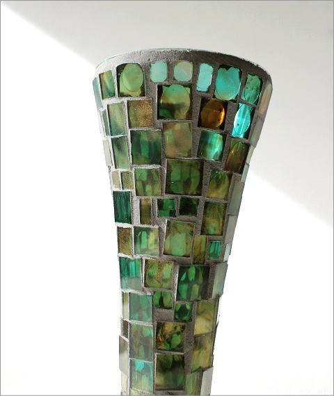 フラワーベース モザイクガラスの花瓶B(3)