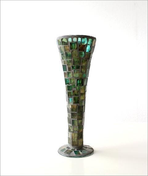 フラワーベース モザイクガラスの花瓶B(5)
